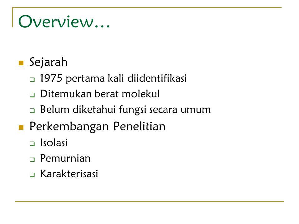 Overview… Sejarah Perkembangan Penelitian
