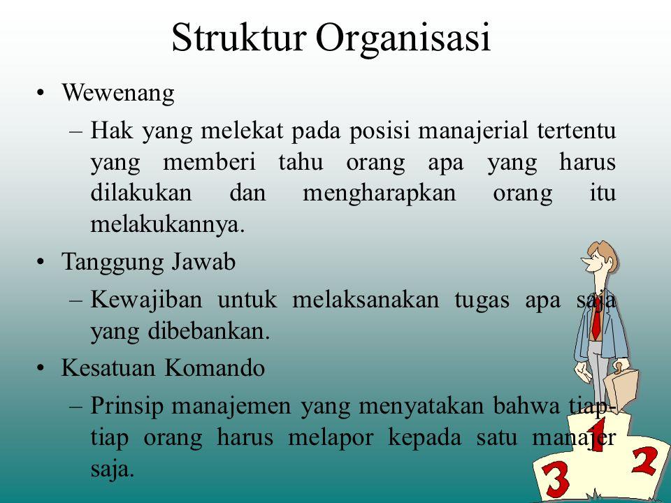 Struktur Organisasi Wewenang