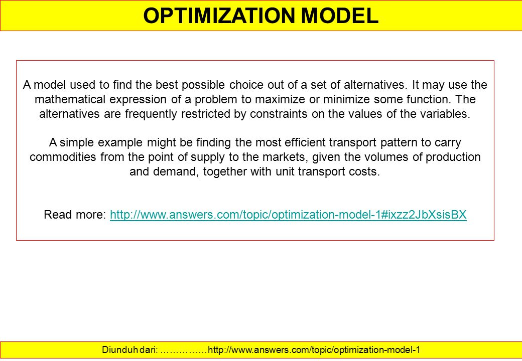 Diunduh dari: ……………http://www.answers.com/topic/optimization-model-1
