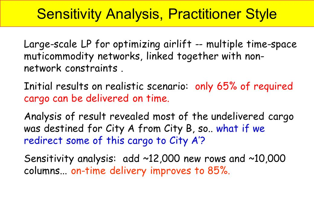 Sensitivity Analysis, Practitioner Style
