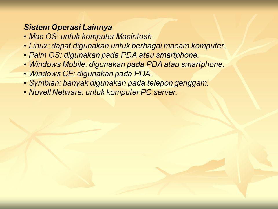 Sistem Operasi Lainnya