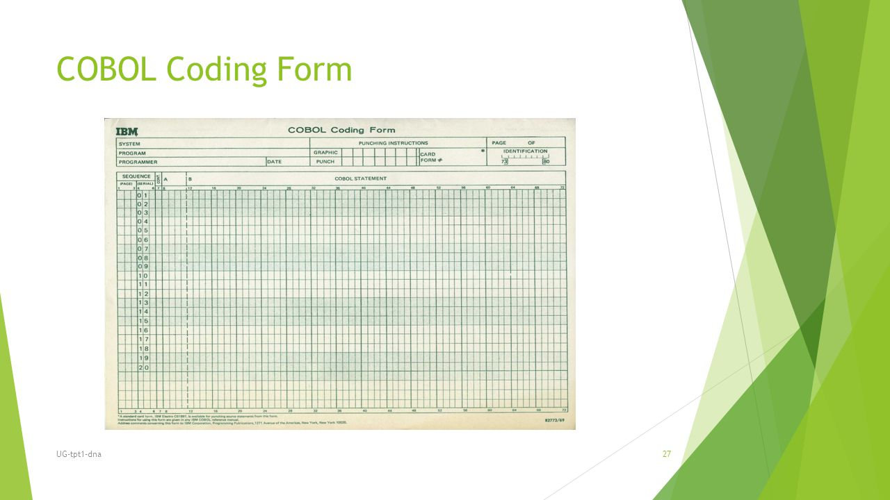 COBOL Coding Form UG-tpt1-dna