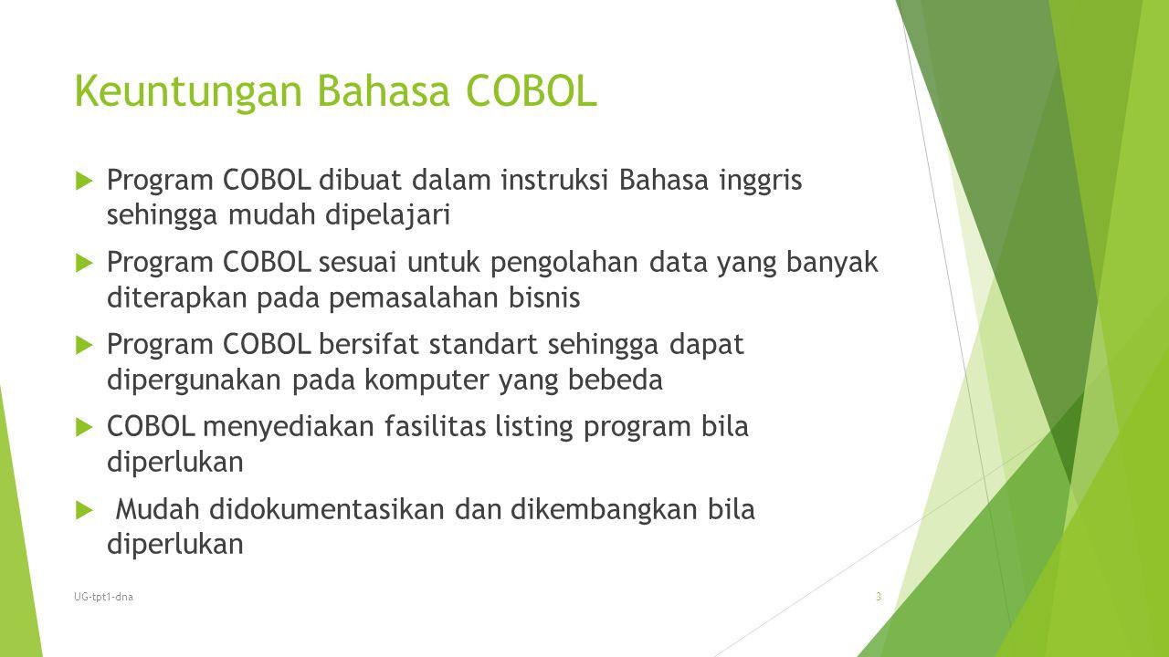Keuntungan Bahasa COBOL