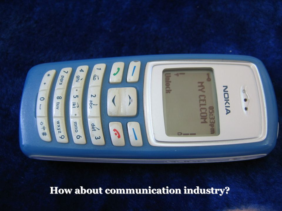How about communication industry