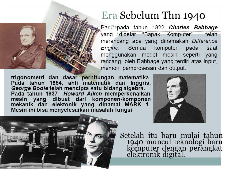 Era Sebelum Thn 1940
