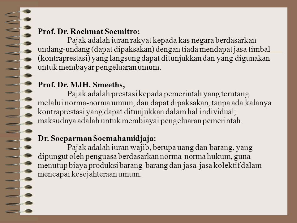Prof. Dr. Rochmat Soemitro: