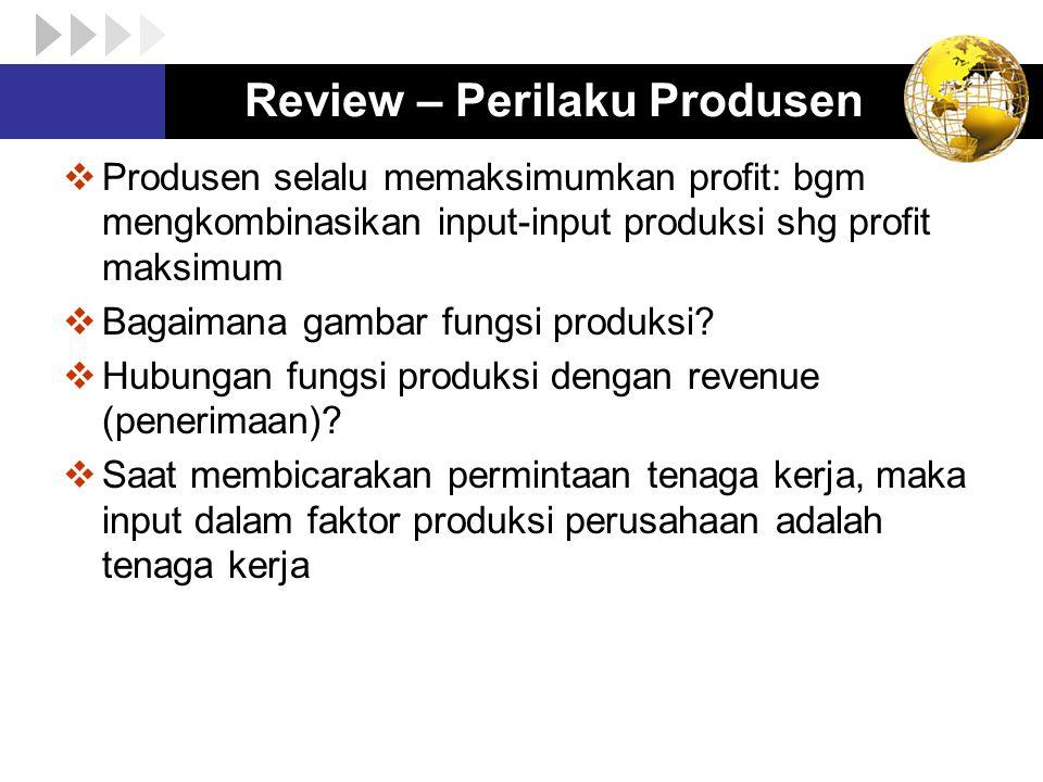 Review – Perilaku Produsen
