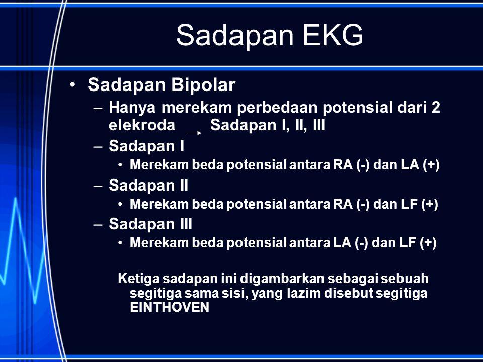 Sadapan EKG Sadapan Bipolar