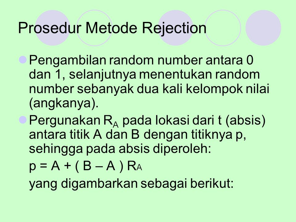 Prosedur Metode Rejection