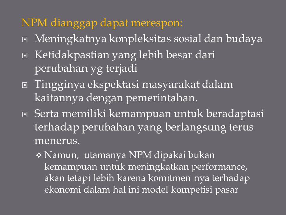 NPM dianggap dapat merespon: