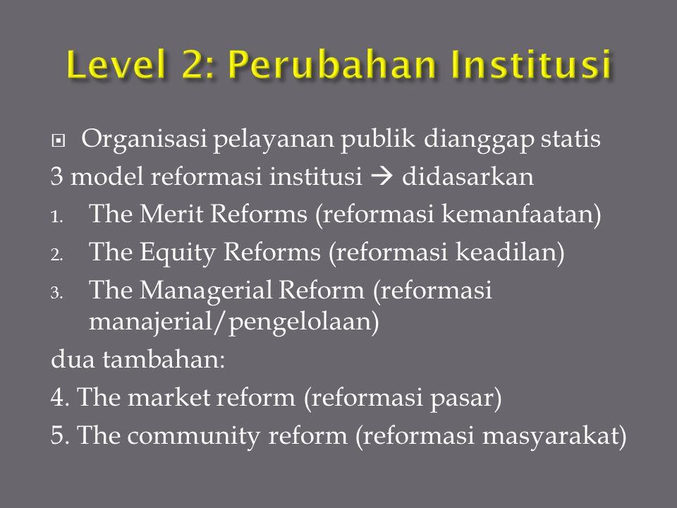 Level 2: Perubahan Institusi
