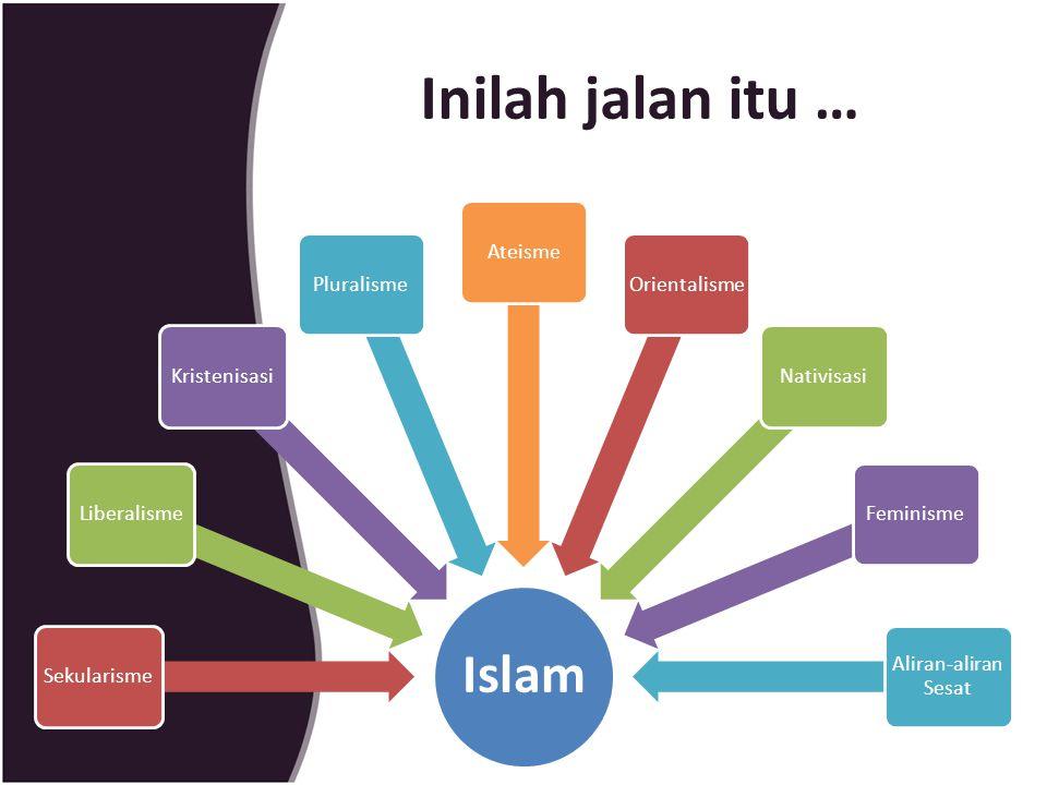 Inilah jalan itu … Islam Sekularisme Liberalisme Kristenisasi