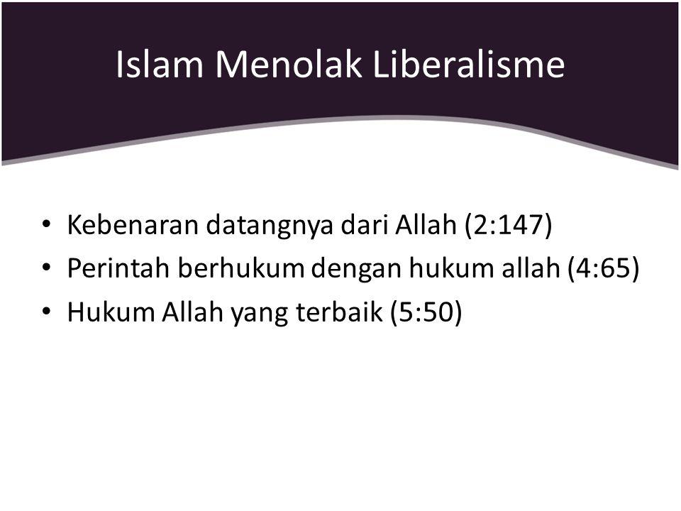 Islam Menolak Liberalisme