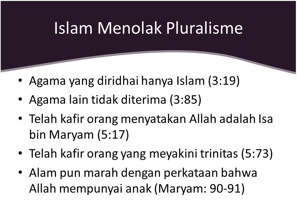 Islam Menolak Pluralisme