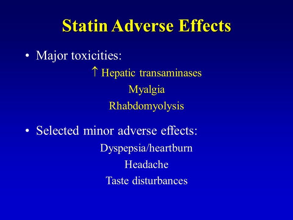 Statin Adverse Effects