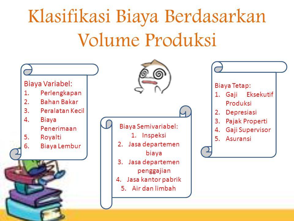 Klasifikasi Biaya Berdasarkan Volume Produksi