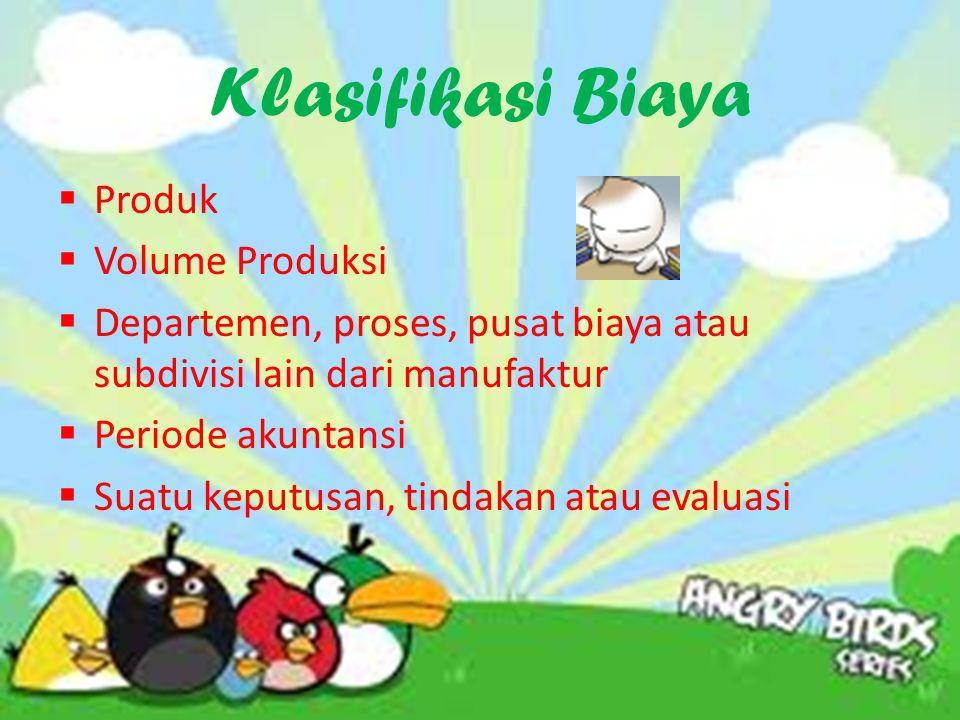 Klasifikasi Biaya Produk Volume Produksi