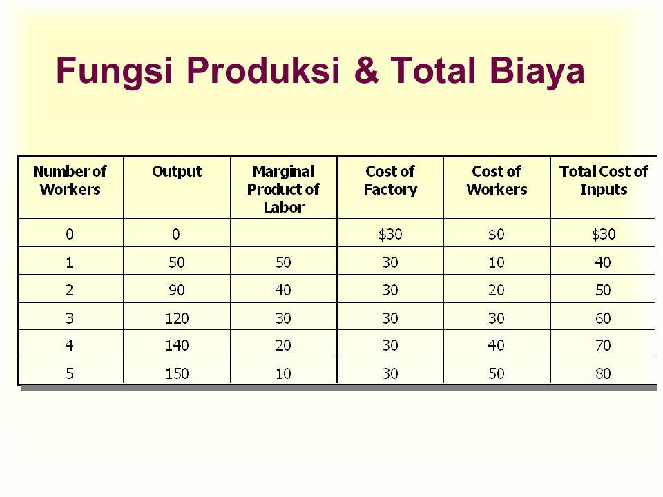 Fungsi Produksi & Total Biaya