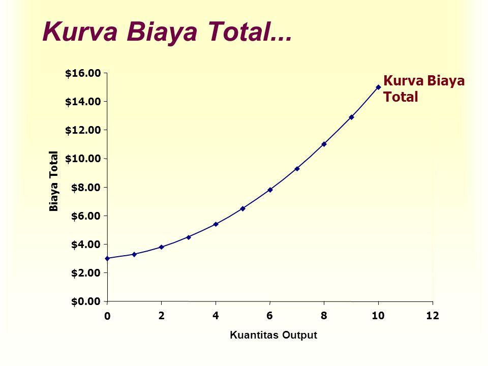 Kurva Biaya Total... Kurva Biaya Total Biaya Total Kuantitas Output