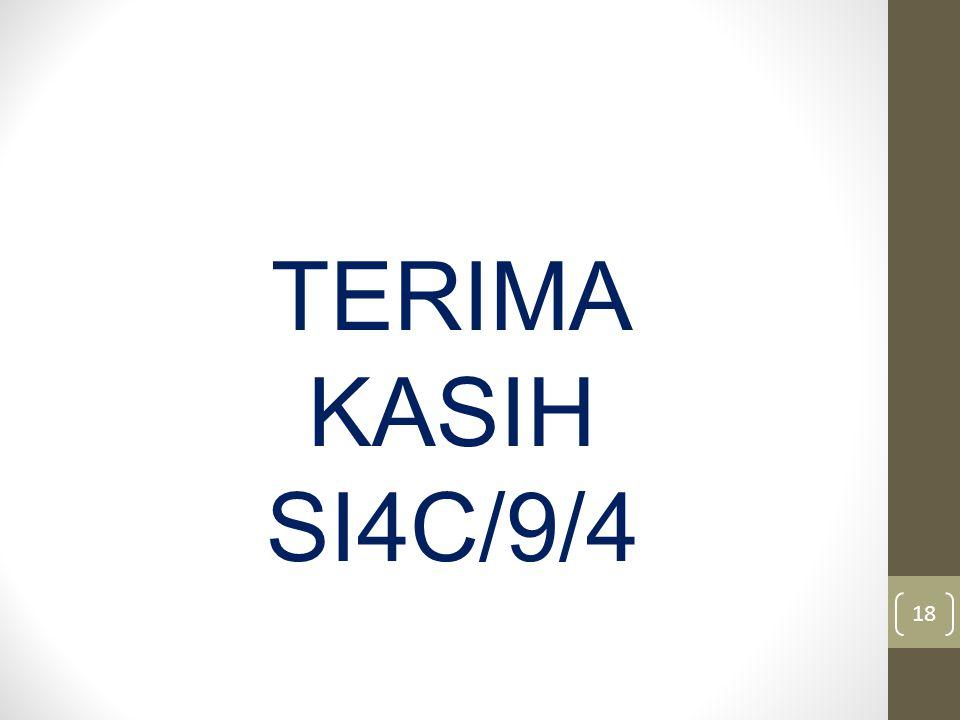 TERIMA KASIH SI4C/9/4