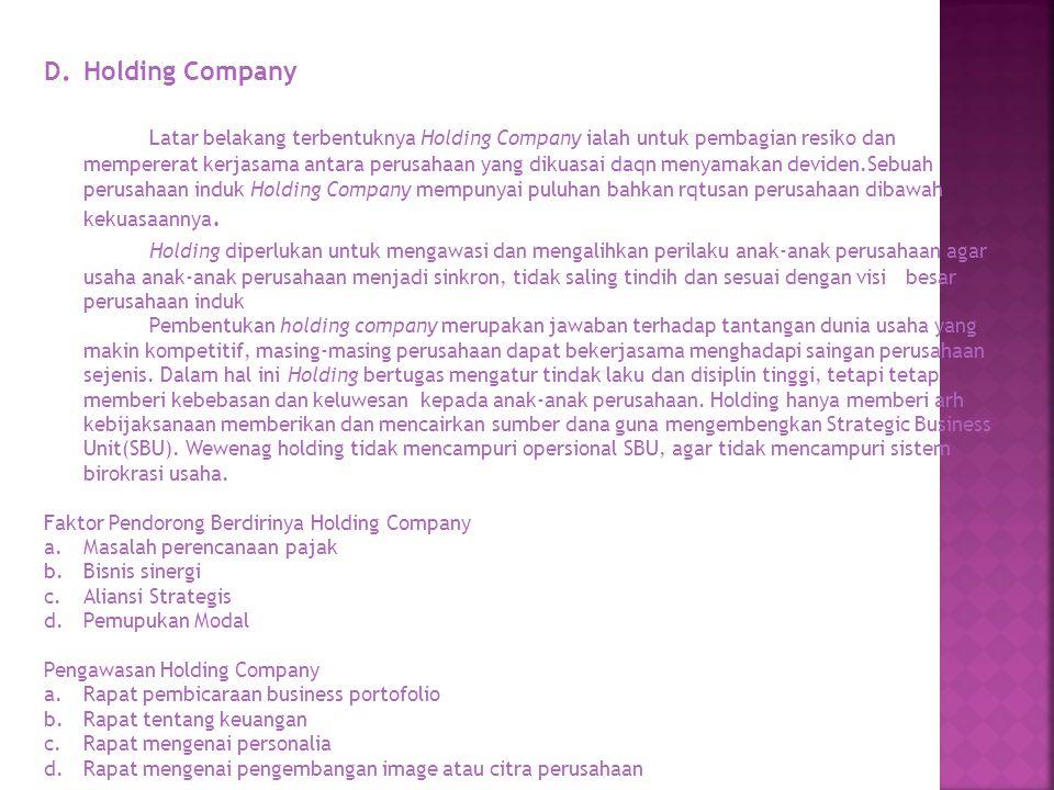 D. Holding Company