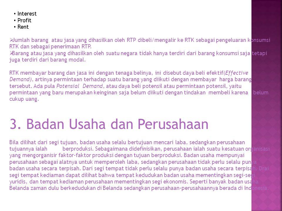 3. Badan Usaha dan Perusahaan