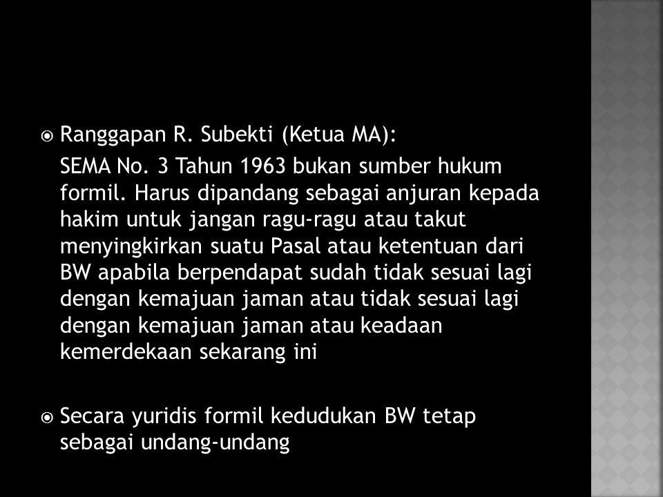 Ranggapan R. Subekti (Ketua MA):
