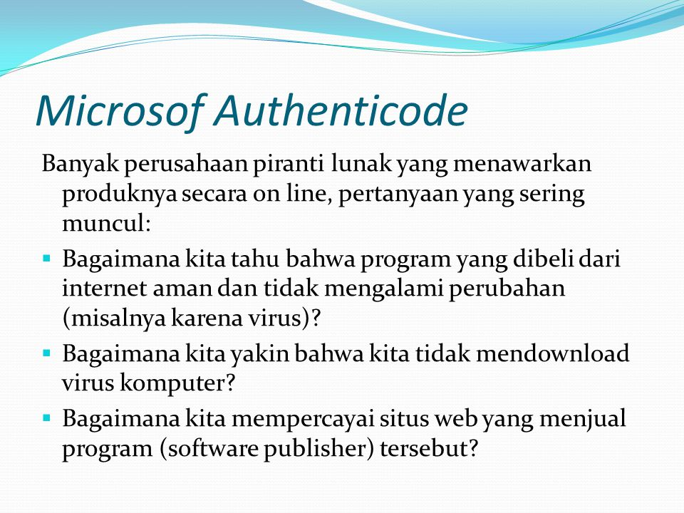Microsof Authenticode