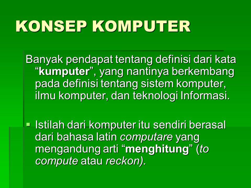 KONSEP KOMPUTER