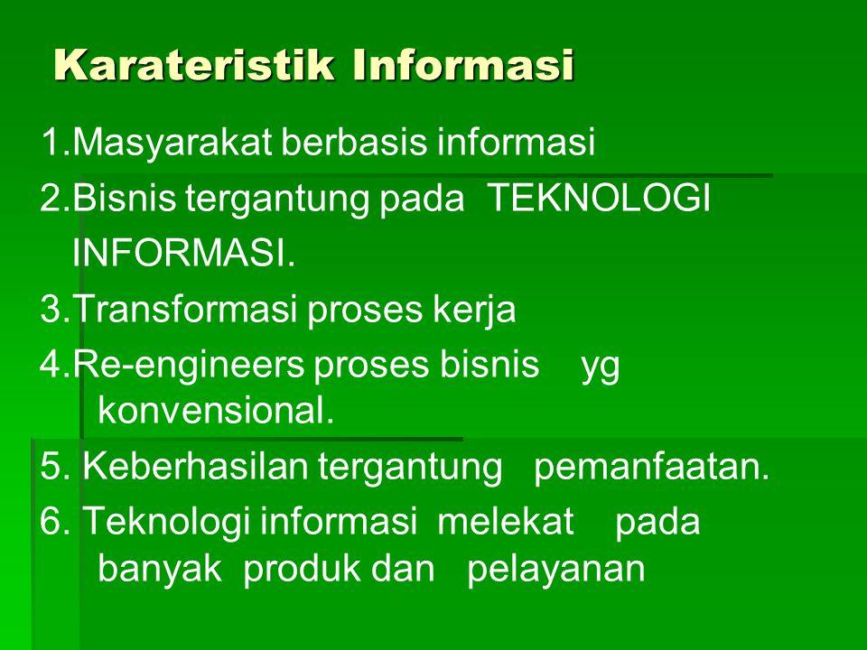 Karateristik Informasi