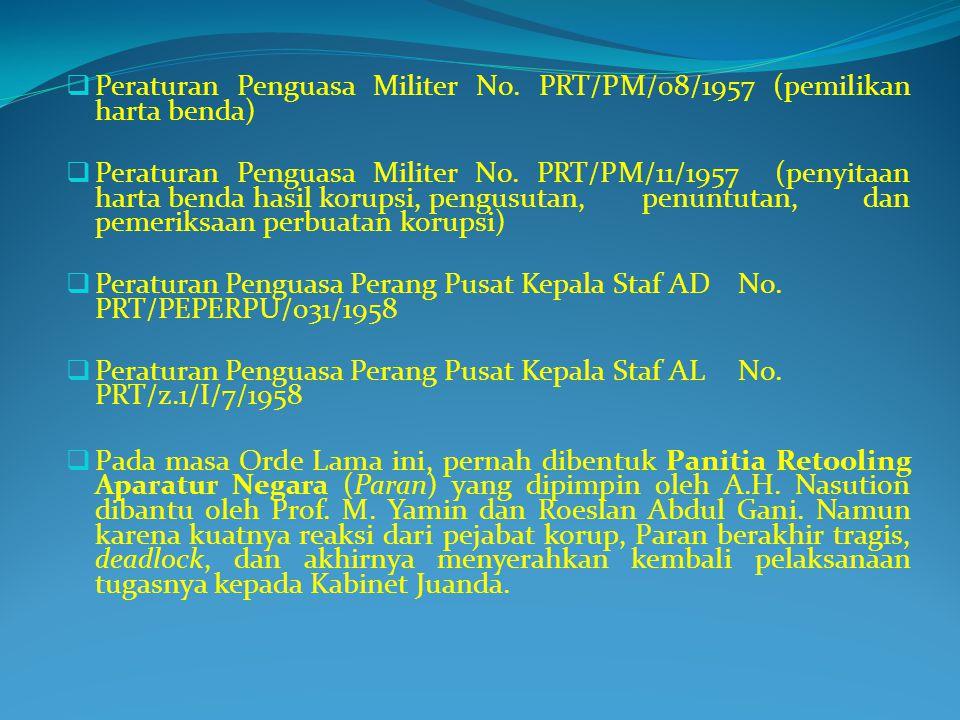 Peraturan Penguasa Militer No. PRT/PM/08/1957 (pemilikan harta benda)