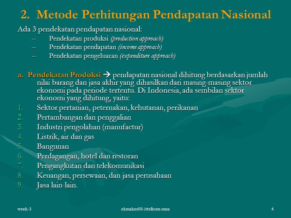 2. Metode Perhitungan Pendapatan Nasional