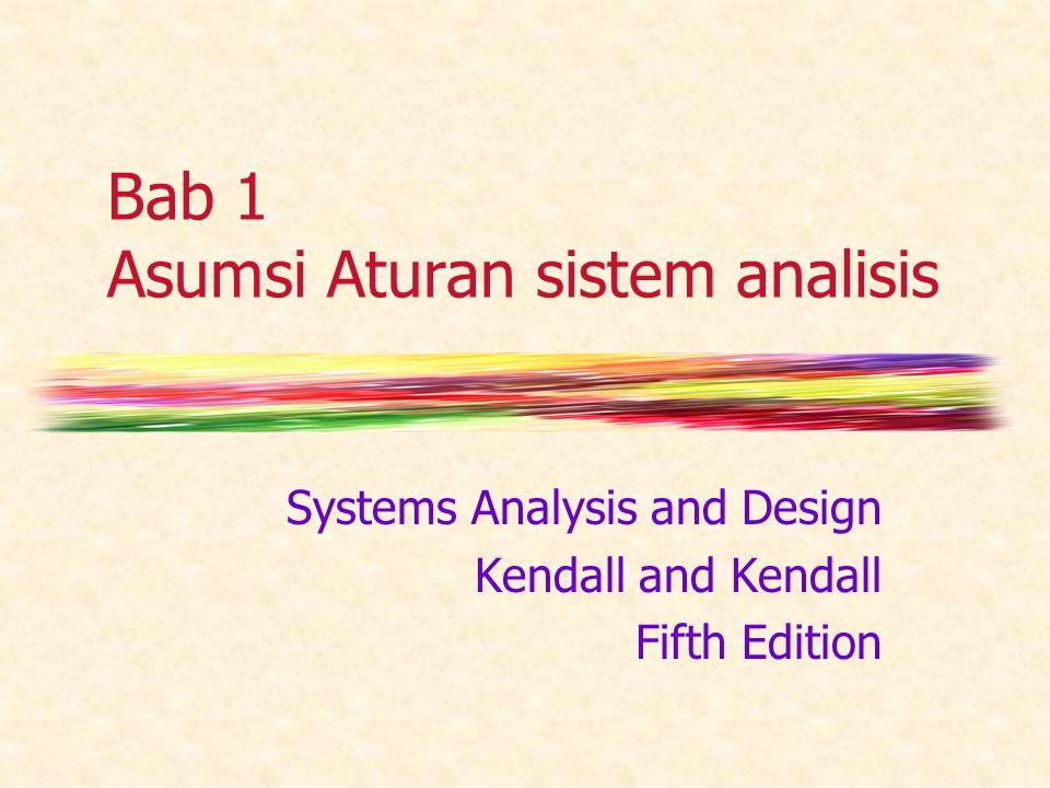 Bab 1 Asumsi Aturan sistem analisis