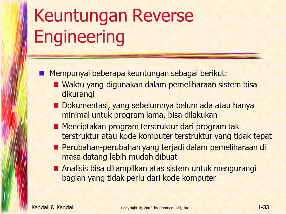Keuntungan Reverse Engineering