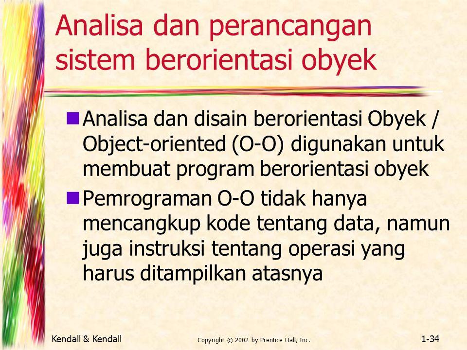 Analisa dan perancangan sistem berorientasi obyek