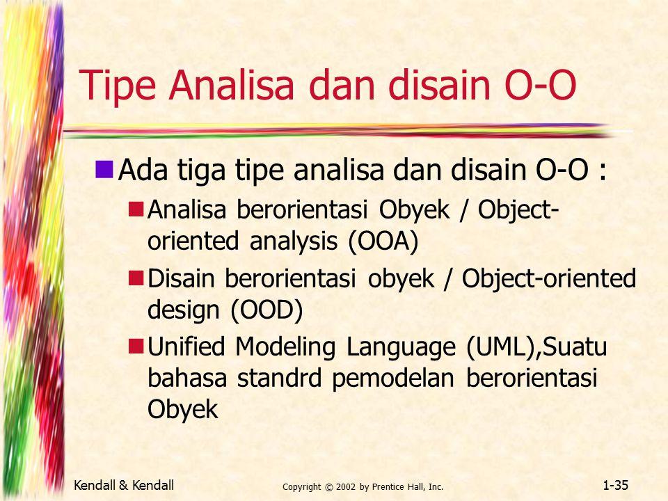 Tipe Analisa dan disain O-O