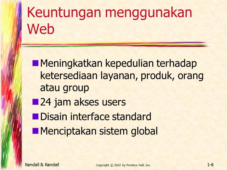 Keuntungan menggunakan Web