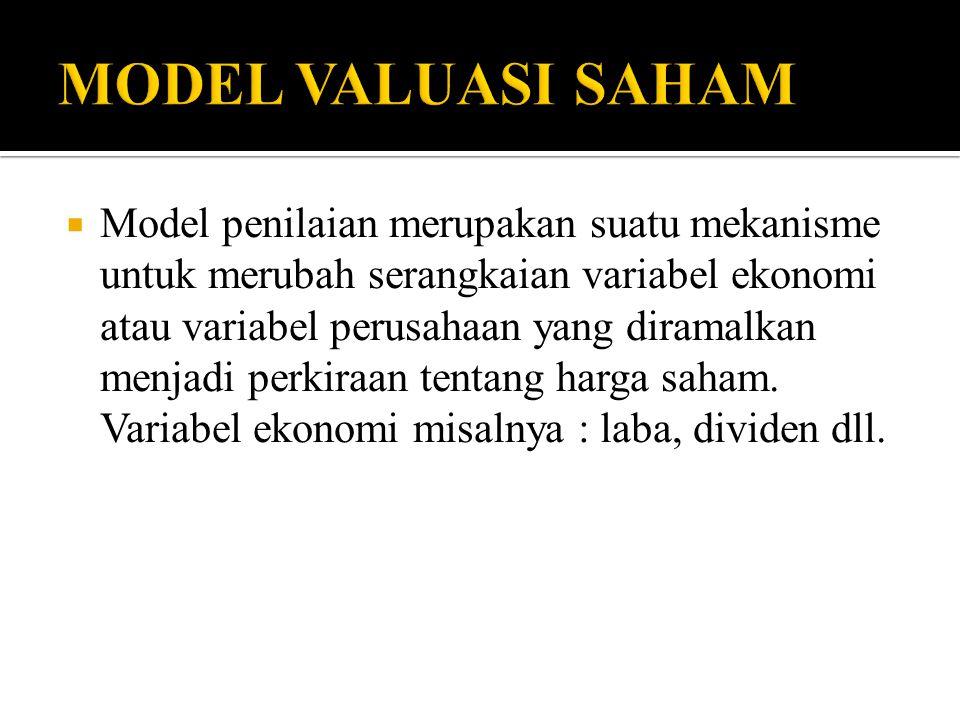 MODEL VALUASI SAHAM