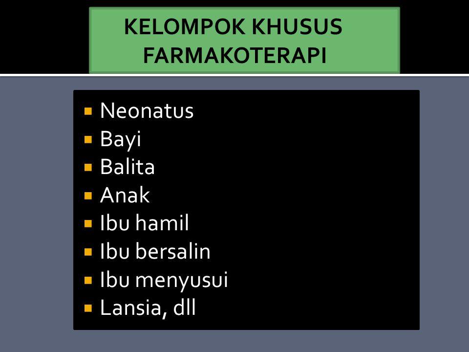 KELOMPOK KHUSUS FARMAKOTERAPI