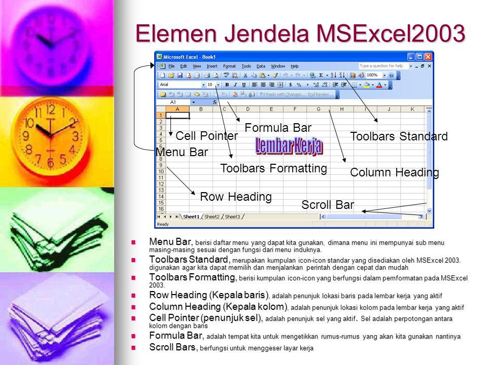 Elemen Jendela MSExcel2003