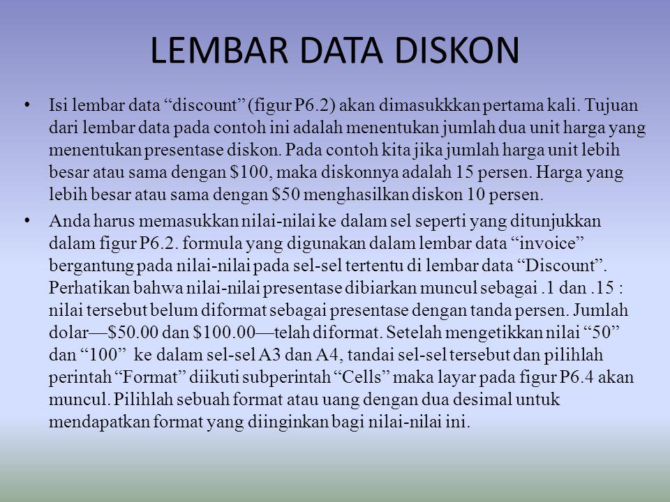 LEMBAR DATA DISKON