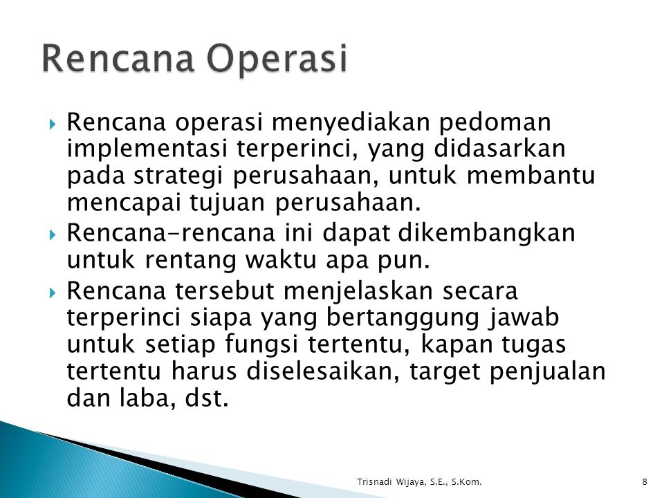 Rencana Operasi