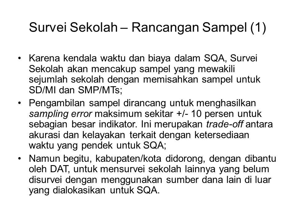 Survei Sekolah – Rancangan Sampel (1)