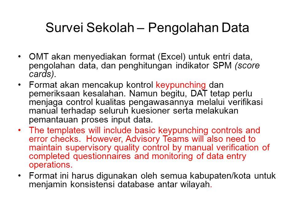 Survei Sekolah – Pengolahan Data