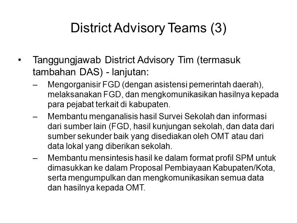 District Advisory Teams (3)