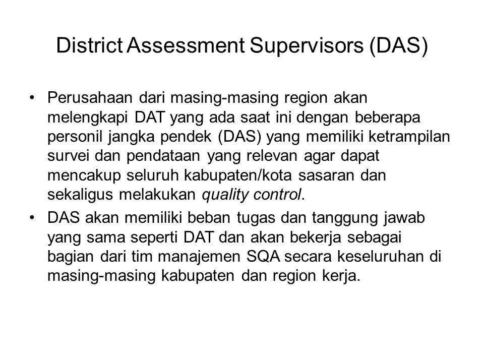 District Assessment Supervisors (DAS)