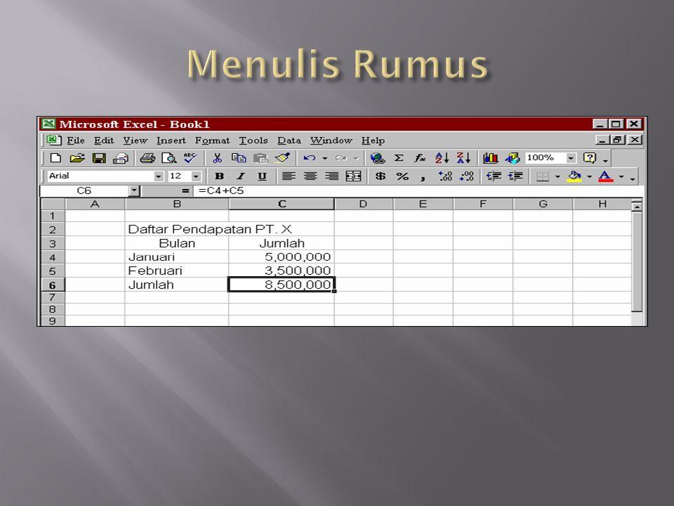 Menulis Rumus