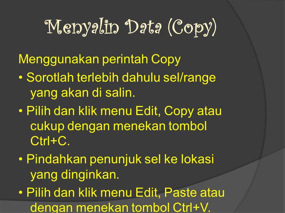 Menyalin Data (Copy)