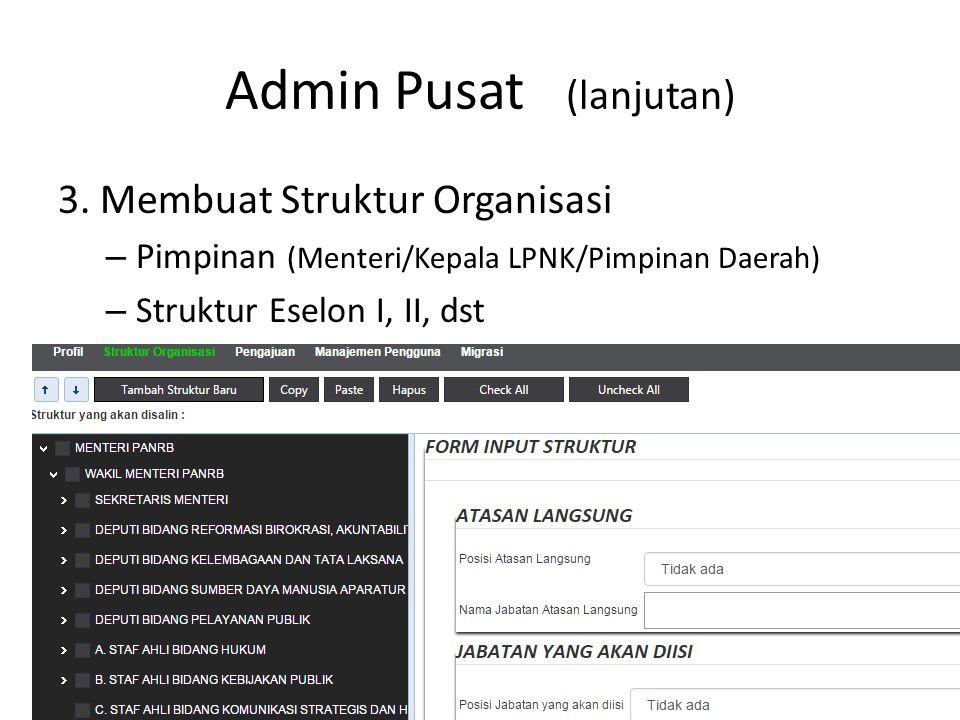Admin Pusat (lanjutan)