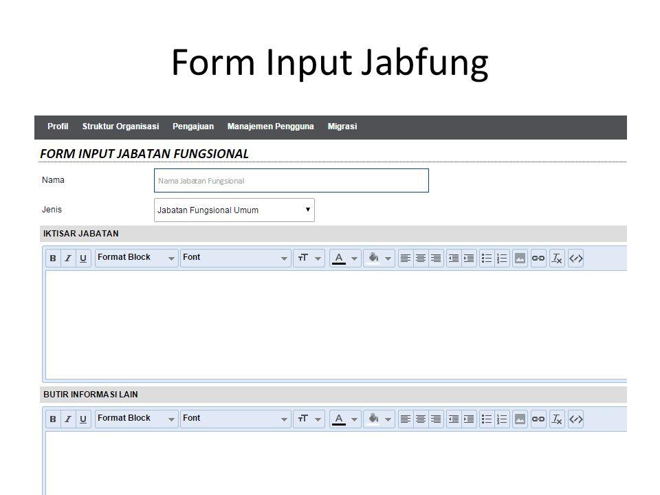 Form Input Jabfung